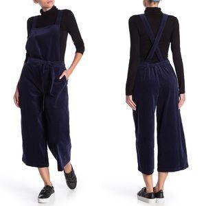 SUSINA Corduroy Overall Crop Jumpsuit